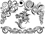 Vintage set calligraphic elements, EPS8 - vector graphics.