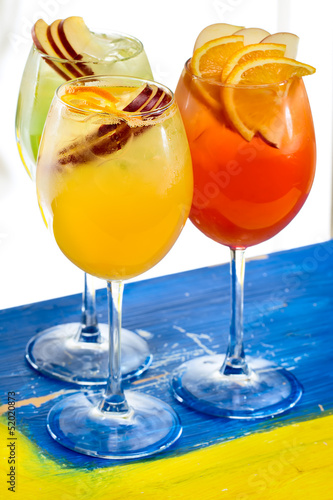 Two glasses with cocktails