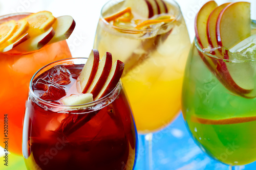 Cold non-alcoholic cocktails