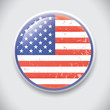 United States Flag - Vector Pin / Button Badge