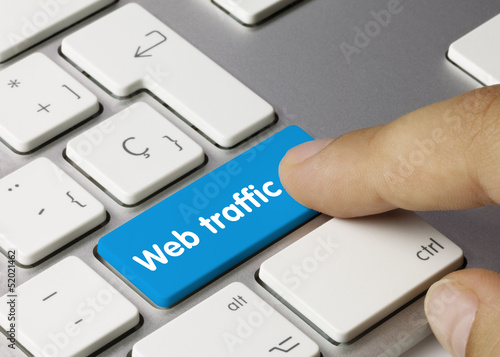 Web traffic keyboard key finger
