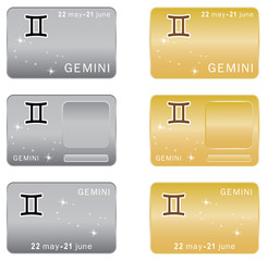Gemini  Zodiac sign. Vector