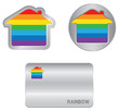 Home icon on the Rainbow flag.