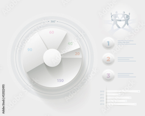 White Infographic template