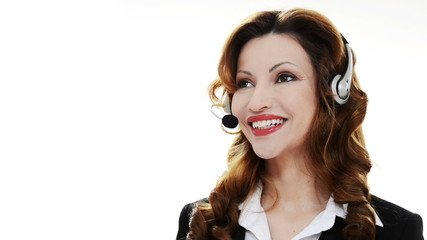 Call center asistant woman