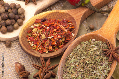 Fototapety, obrazy : Spices and herbs
