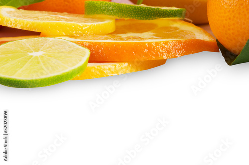 Citrus sliced fruit