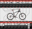High-detailed hardtail MTB scheme