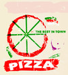 pizza menu template, free copy space, vector eps