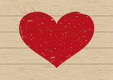 Fototapety Heart shape on wooden background