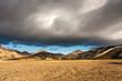 Leinwandbild Motiv massive cloud iceland mountains