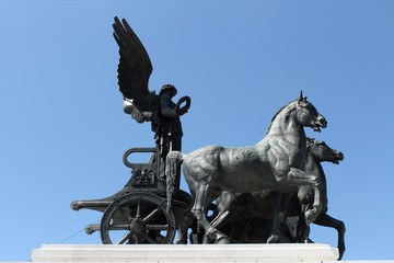 Quadriga on the Altare della Patria in Rome