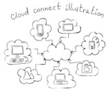 cloud computing hand drawn illustration