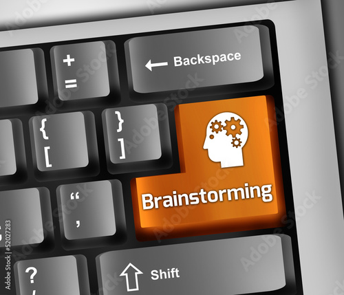 "Keyboard Illustration ""Brainstorming"""
