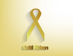 Gold awareness Ribbon