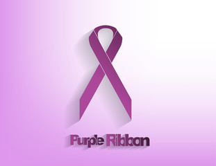 Purple awareeness Ribbon