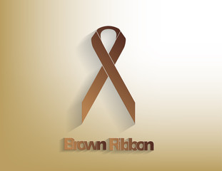 Brown awareness Ribbon