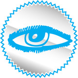 Senses icon set - Vector Illustration poster