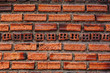 Old red vintage grunge brick wall background