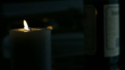 Besinnlicher Abend mit Kerzenlicht geht zu Ende