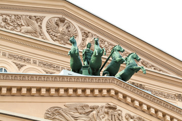 Bolshoi Theatre in Moscow. Detail of the building.