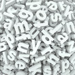 Letter Jumble Background Alphabet Words Spilled Mess