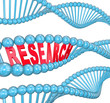 Research Word DNA Strand Medical Laboratory Study