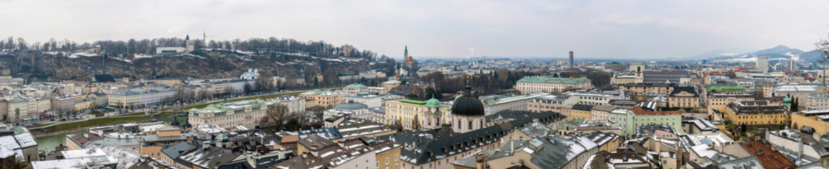 Panoramic view of Salzburg from Kapuzinerkloster - Austria
