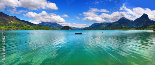 mountain Alpen lake, st.Wolfgang, Austria