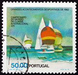 Postage stamp Portugal 1982 Sailboats, 470 Class