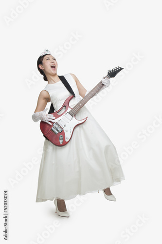 Princess Singing with Rock Guitar