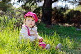 cute toddler on the meadow