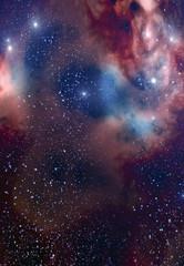 Background with Stars and Nebula