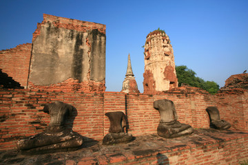Statue of headless Buddha at Wat Mahatat, Ayutthaya Thailand.