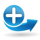 Fototapety ajouter sur bouton web bleu