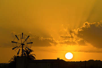 Mallorcan Windmill Sunset