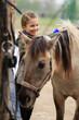 Horse and lovely  girl