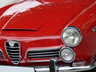 red italian car