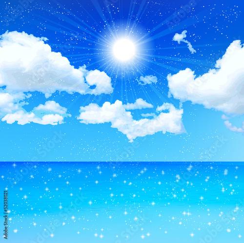 大海和天空矢量图