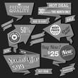 Retro product labels set