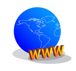 "World written with ""WWW"""
