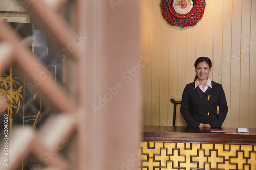 Receptionist at Hotel Front Desk