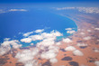 Aerial view of Mediterranean sea coastline, Egypt