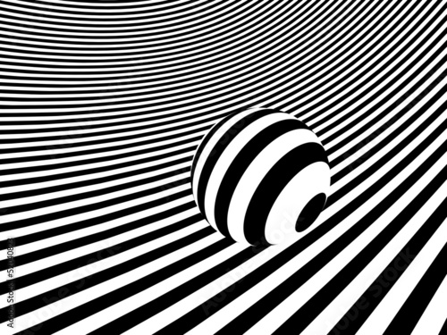 3d Geometric stripes with sphere - A