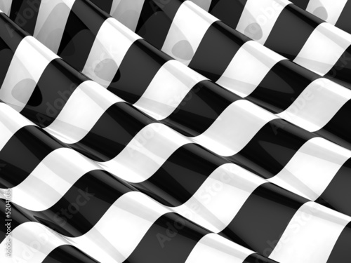 Aluminium Abstract wave 3d Geometric stripes ripple - A