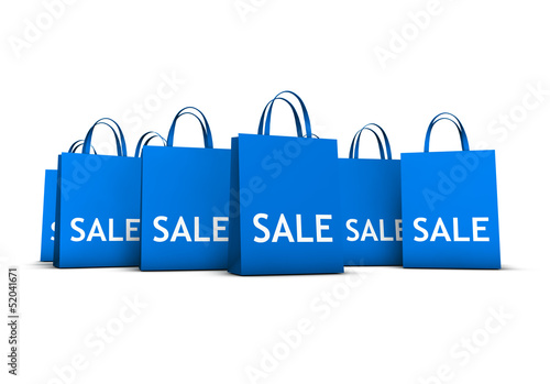 Shopping Bags Sale Concept