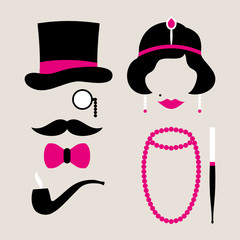 Man & Woman 20s Pink/Beige