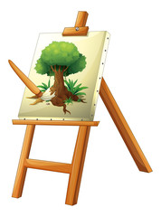 A painting of a tree