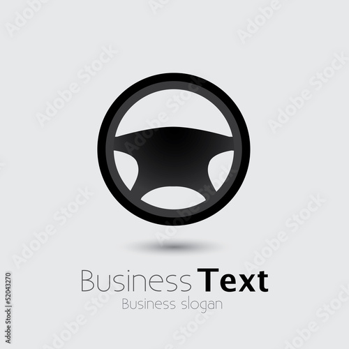 Car, vehicle or automobile steering wheel icon or symbol- vector