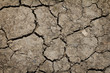 Cracked by the heat long lifeless soil ground global warming con